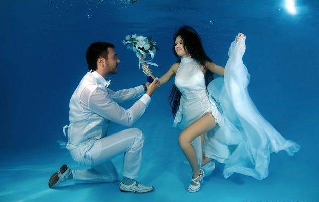 Heiraten unter Wasser
