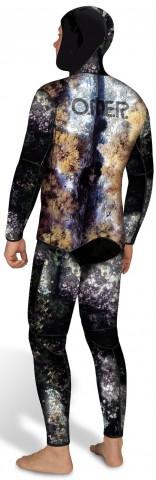 камуфлированный гидрокостюм для подводной охоты Mix 3D OMER